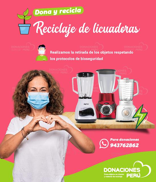 Dona y recicla licuadoras en desuso