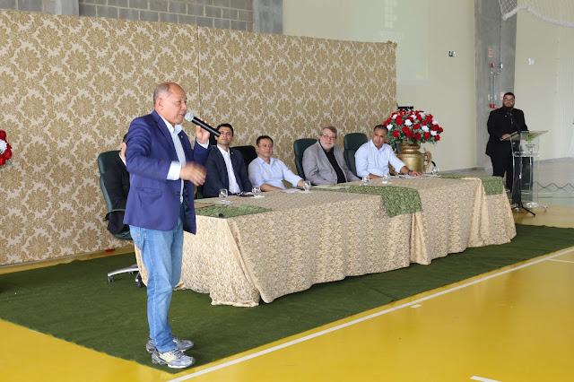 Deputado Coronel Chrisóstomo prestigia inauguração do ginásio do IFRO em Porto Velho