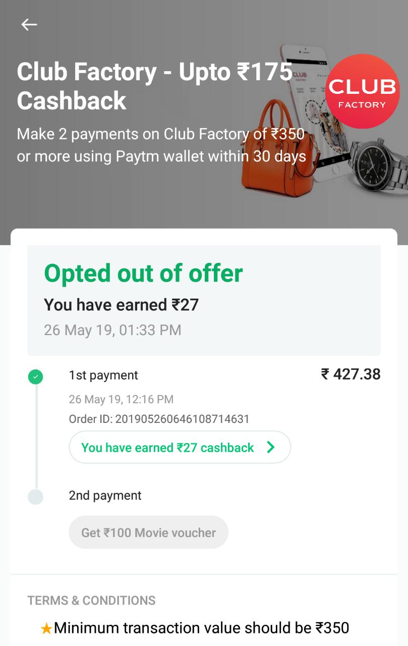 91cb3cef351 Then Open Now The Club Factory App And Cancel The Order You Will Receive  Refund 48 On Your Paytm Account
