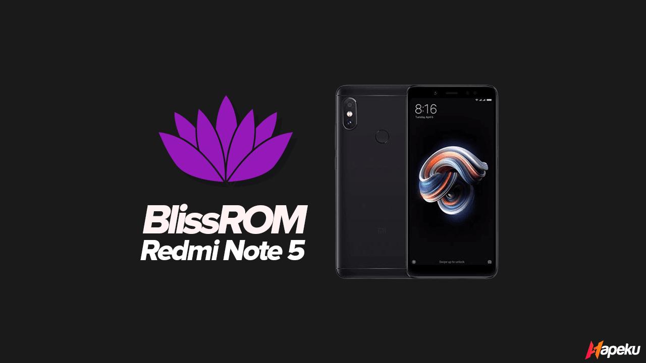 ROM Bliss v12.4 Xiaomi Redmi Note 5 ( WHYRED )