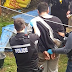 Dramatic moment police chased drug dealer chased into family's back garden and forced him to cough up bags of crack cocaine he had swallowed in front of father and his young son