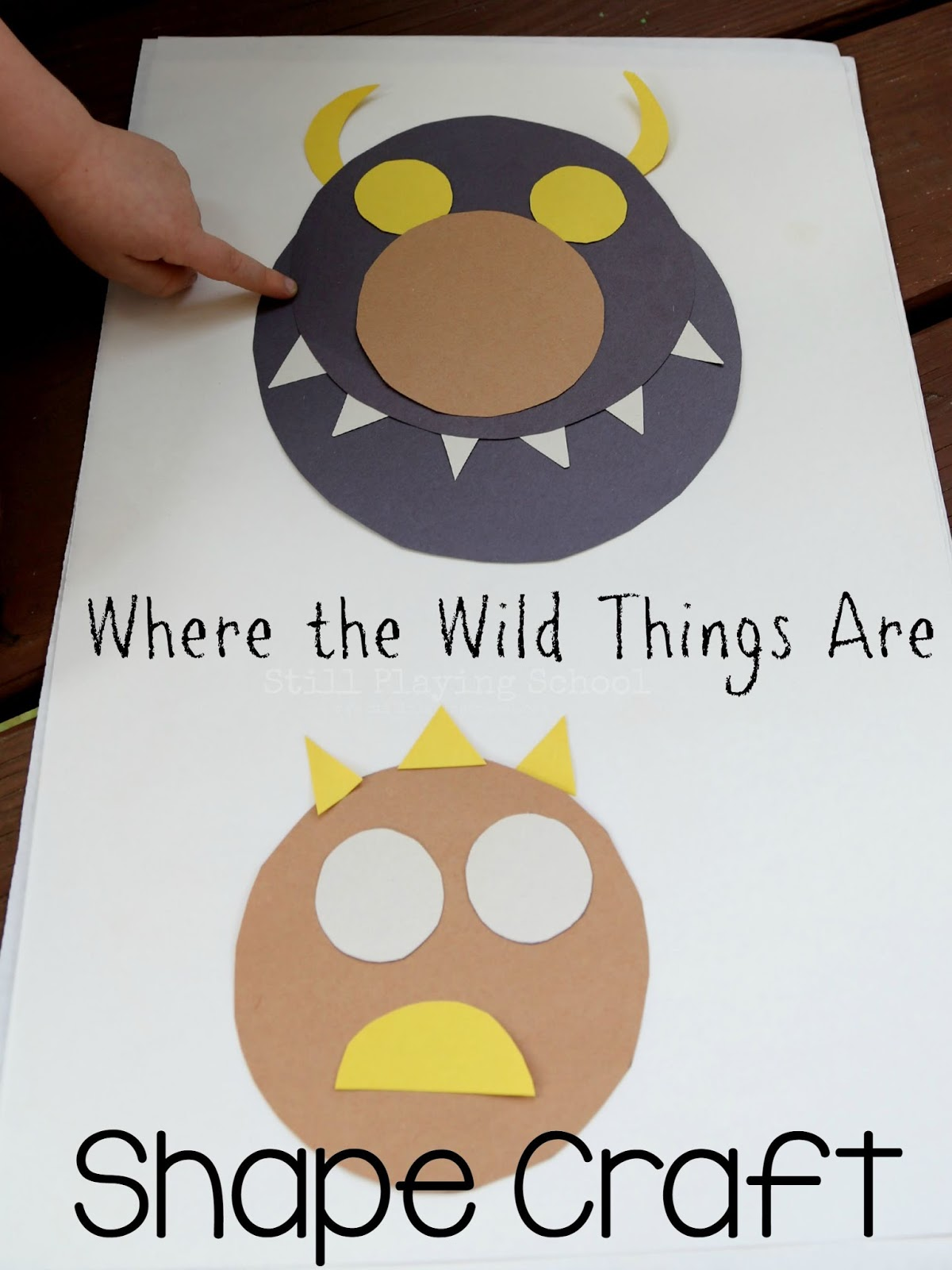 Make A Wild Thing With Shapes