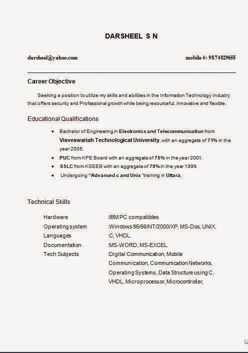 Free Printable Resumes Online. Free Blank Resume Templates Download
