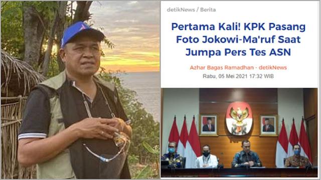 KPK Pasang Foto Jokowi-Maruf, Benny: Pesan Bahwa yang Mematikan KPK adalah Mereka