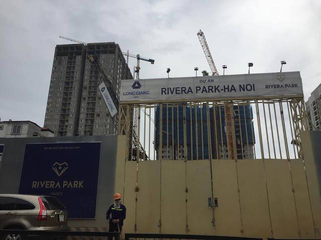 Cổng vào dự án Rivera park Hà Nội