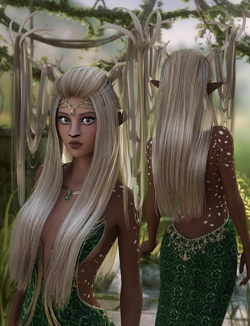 Fawna Hair for Genesis 3 Female