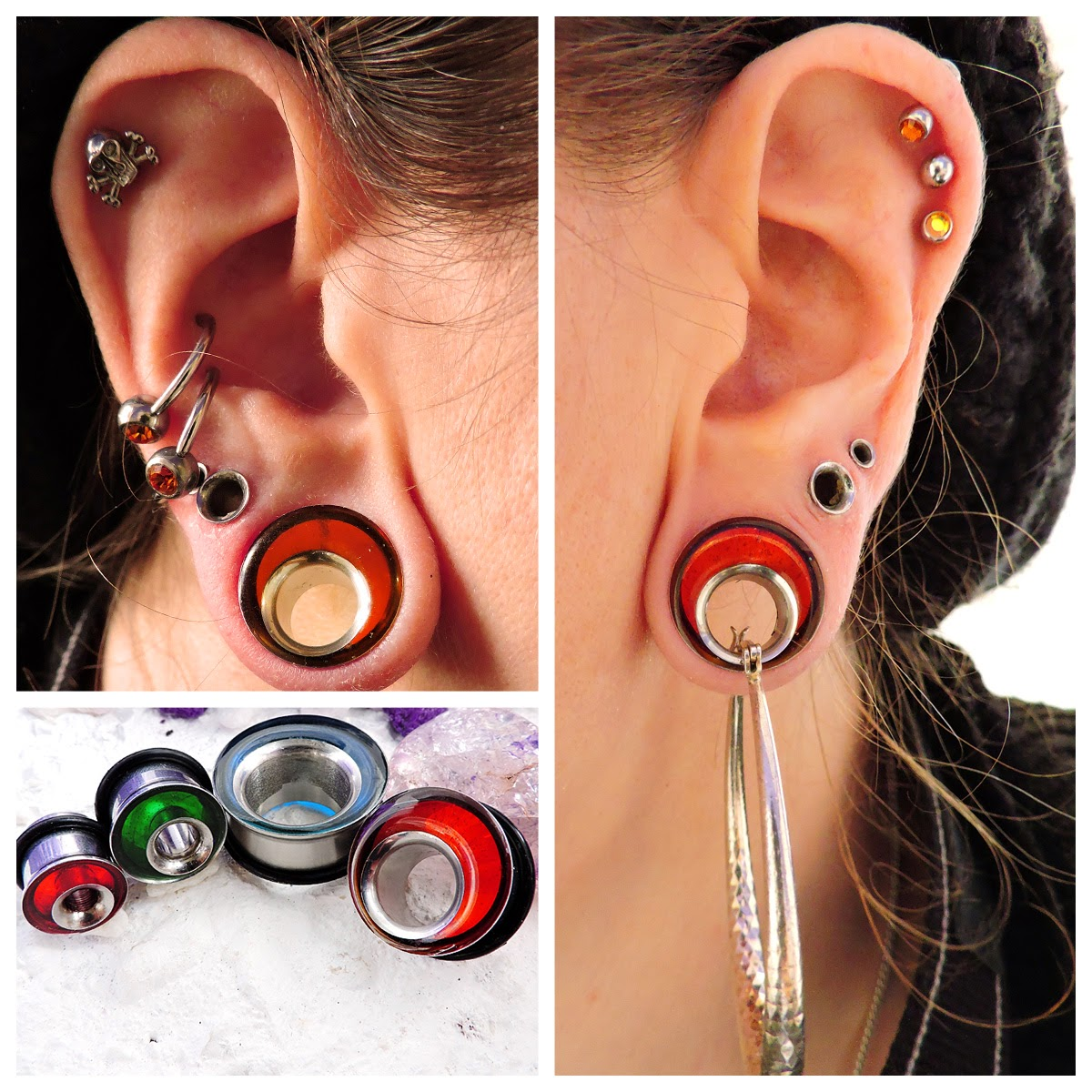 Tunnels Or Eyelets Stretchers Gauges They Re Fab On Their Own With A Nice Pair Of Earrings Clanking Away Through Them And Also Now