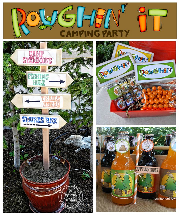 Its The Perfect Time For An Outdoor Camping Themed Birthday Party This Type Of Can Be So Much Fun Especially Using Some Ideas We Show Below