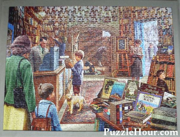 Puzzle World The Book Store Artist Steve Crisp Jigsaw Puzzles Review Books Shop bookshop bookstore traditional