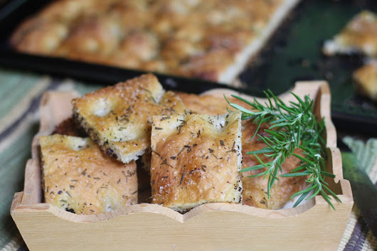 Golden Focaccia - King Arthur Flour's August Bakealong Recipe