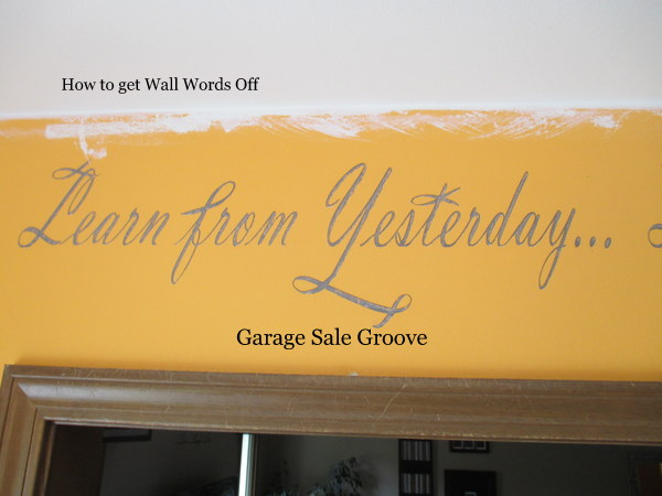 Garage $ale GrOOve: TIPS FOR GETTING THE WRITING OFF THE WALL