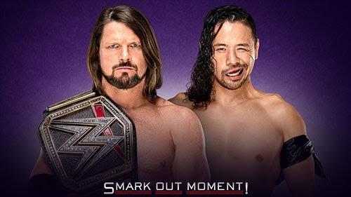 WWE WrestleMania 34 AJ Styles WWE Championship Shinsuke Nakamura