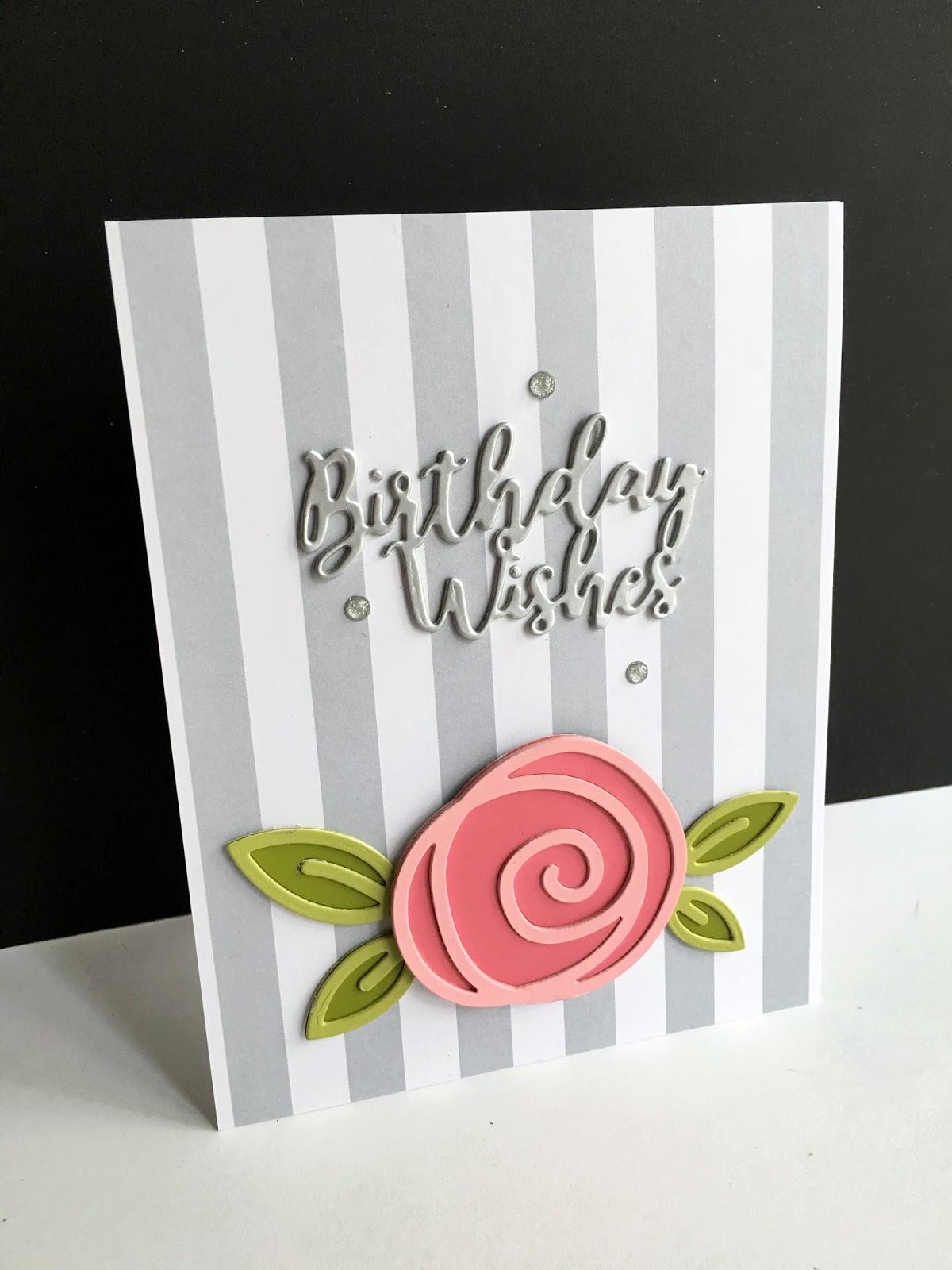 Im in haven striped die cut flower birthday wishesx two striped die cut flower birthday wishesx two izmirmasajfo