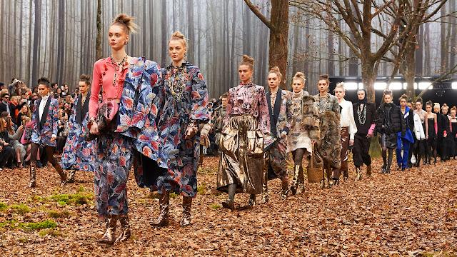Chanel, Fashion Show, Forest, Paris, France, Paris Fashion Week, Grand Palais, Models, Fashion Show, Venue