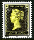 Canvey Local Post Penny Black Stamp