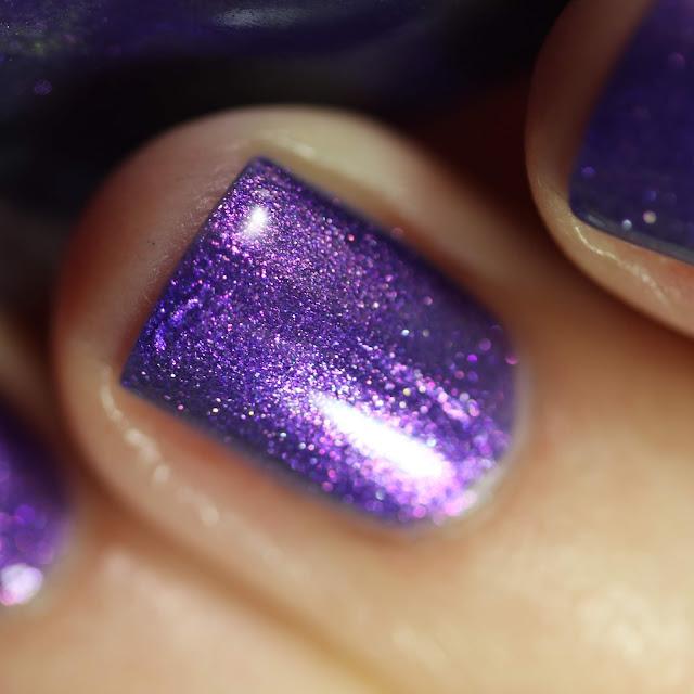 Paint It Pretty Polish Berry Pickin' swatch bright purple multichrome polish