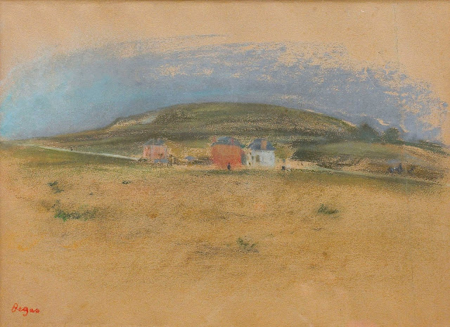 Эдгар Дега - Дома вблизи скал (1869)