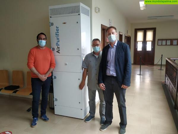 El Ayuntamiento de Tijarafe cuenta con el primer purificador de aire instalado en La Palma