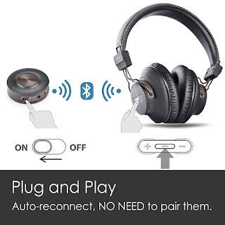 Auriculares Inalámbricos con Transmisor Bluetooth