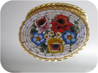 vintage mini mosaic brooch