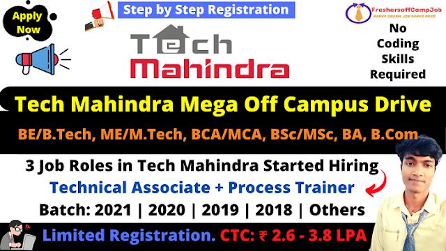 Tech Mahindra Off Campus Drive 2021 2020 2019 Batch