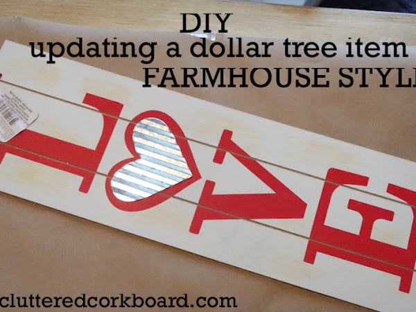DIY Farmhouse Style Home Sign and Updating a Space
