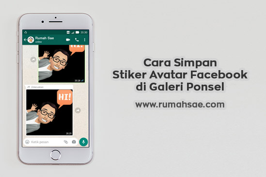 Cara Menyimpan Stiker Avatar Facebook di Galeri Ponsel