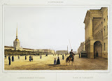Admiralty Square by Ferdinand Perrot - Architecture, Landscape Art Prints from Hermitage Museum