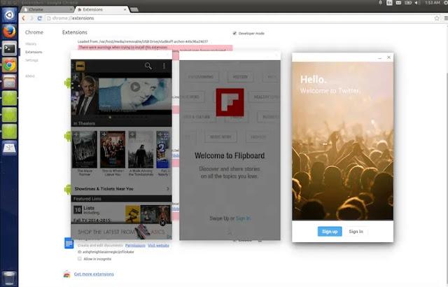ARChon Runtime لـ Chrome هو وقت تشغيل تجريبي ، يجعل من الممكن تشغيل تطبيقات Android عبر Chrome.