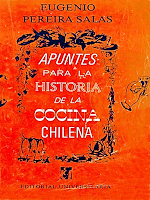 Libro N° 6331. Cocina Chilena. Pereira Salas, Eugenio.