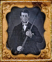 A photograph of Phineas Gage.