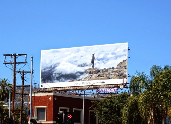 Shot on iPhone 6 Above clouds billboard