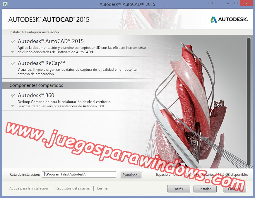 AutoCAD 2015 Full PC ESPAÑOL INGLES 32 y 64 Bits (XFORCE) 3