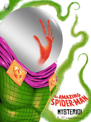 Spider-Man vs. Mysterio Screen Print by Doaly x Grey Matter Art x Marvel Comics
