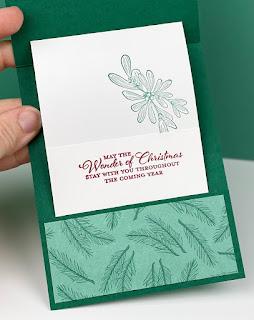 Stampin' Up! Wishes & Wonder Pop-Up Pocket Christmas Card with VIDEO Tutorial ~ Aug-Dec 2020 Mini Catalog ~ www.juliedavison.com #stampinup