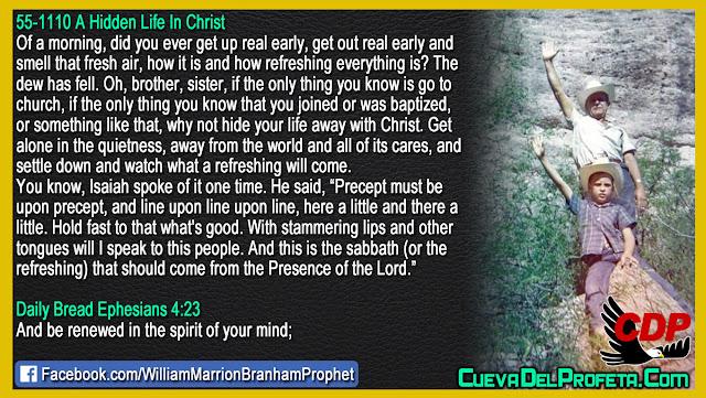 This is the sabbath - William Branham Quotes