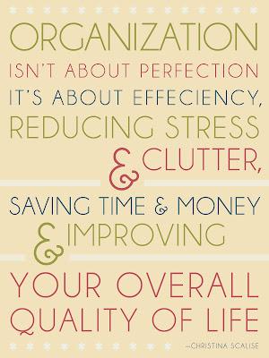 An Organization Poster to Help Reduce Clutter