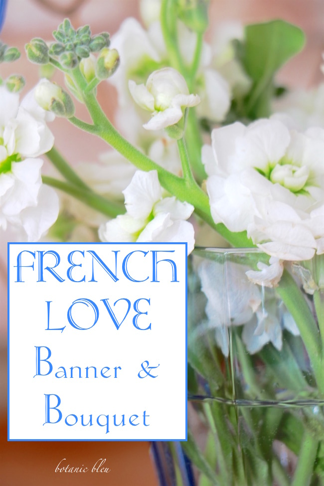 Valentine's Day French Inspiration for French love banner and bouquet free printables