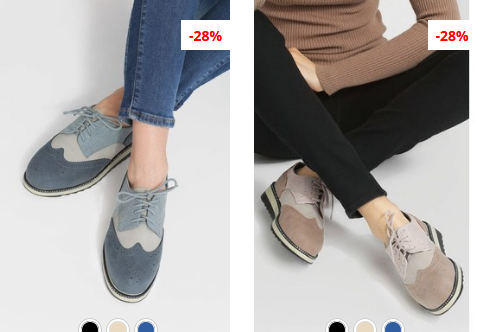 Pantofi Oxford bej, Navy moderni ieftini