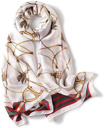 Designer White Satin Scarves
