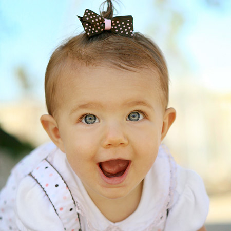 The gallery for --> Baby Girl With Brown Hair And Green Eyes