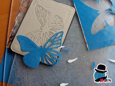 farfalla di carta tagliata con fustella