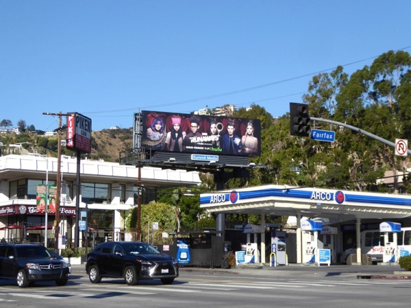 Runaways Hulu series billboard