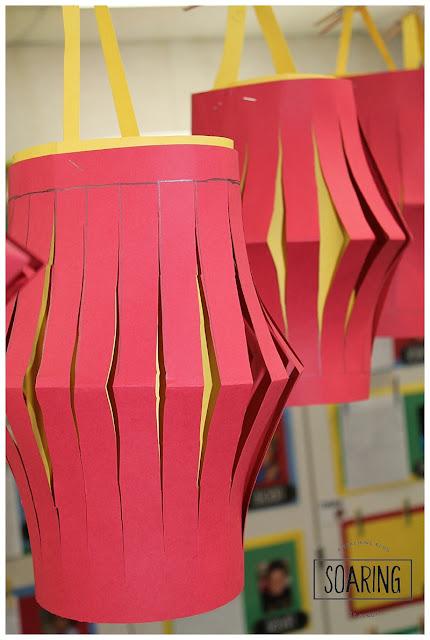 DIY Chinese New year lanterns art project