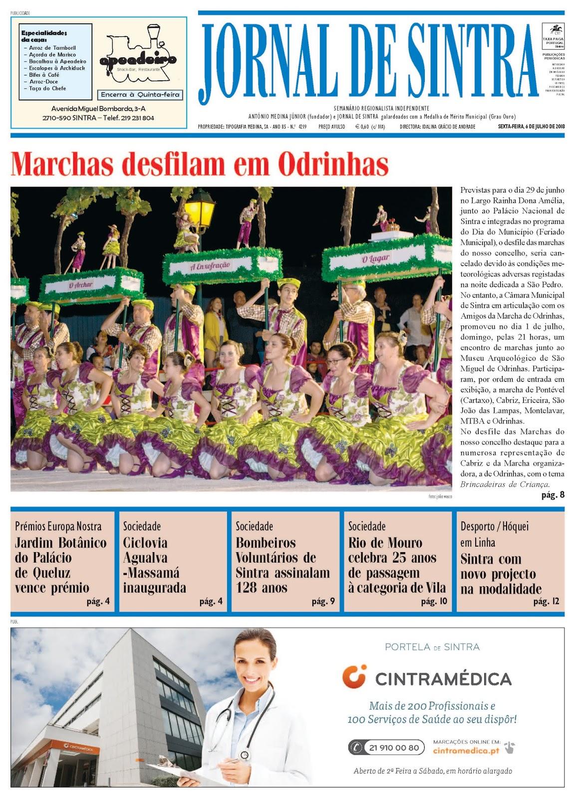 Capa da edição de 06-07-2018