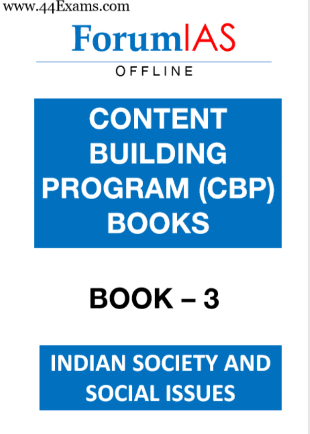 Forum-IAS-Indian-Society-and-Social-Issues-For-UPSC-Exam-PDF-Book