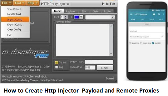How To Create Http Injector Payload And Remote Proxies 2018 Pinoytut