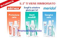 Logo Elmex e Meridol in Farmacia : ricevi il rimborso del secondo prodotto