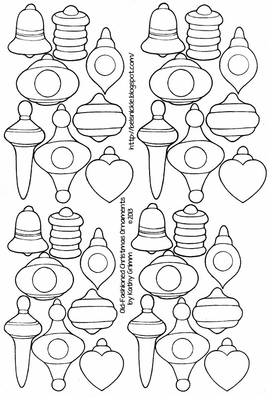 Cut and Paste Old-Fashioned Ornaments for A Paper