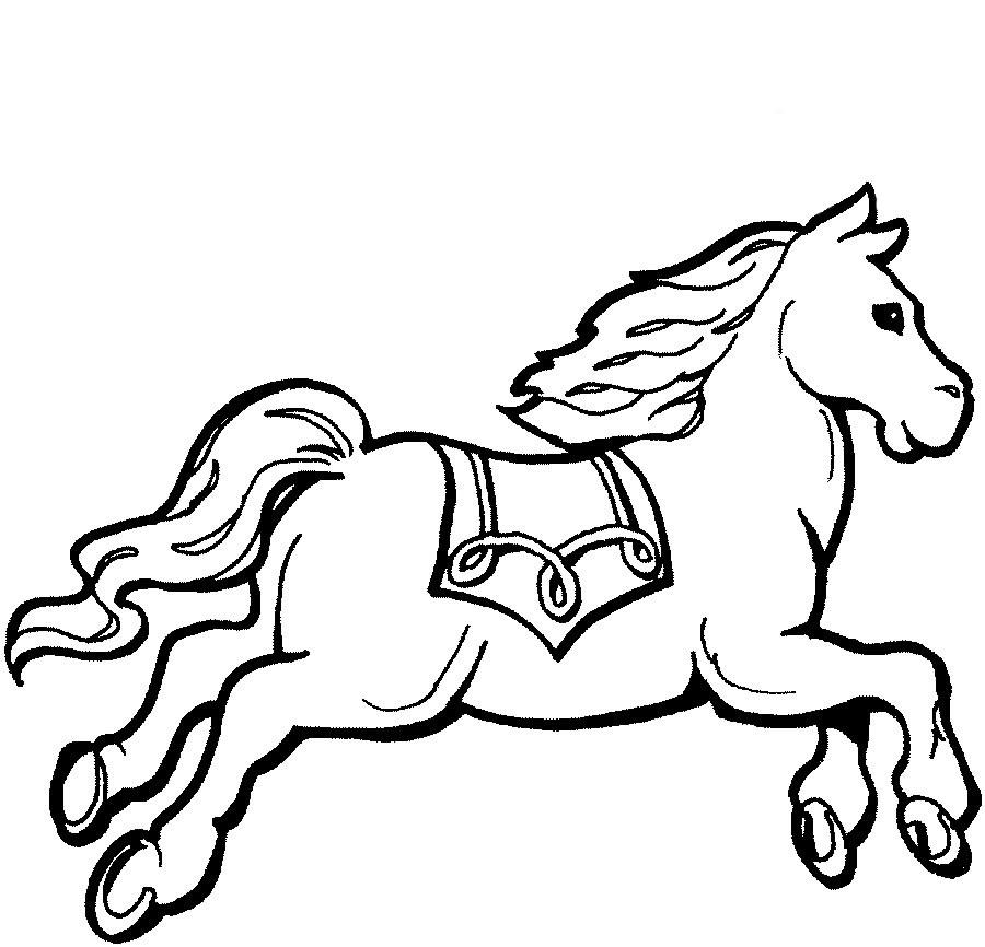 Desenhos Para Pintar Imprimir Cavalos Para Pintar Colorir E